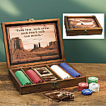 Collectible John Wayne Memorabilia Poker Set