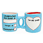 Our Name Is Mud DIY Grandpa Mug Gift Set: Personalized Gift For Grandfathers
