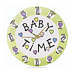 Our Name Is Mud Baby Time Whimsical Wall Clock