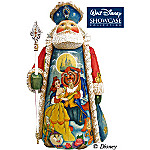 Tale As Old As Time Disney Beauty And The Beast Theme Santa Claus Figurine