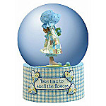 Holly Hobby Collectible Water Globe: Take Time To Smell The Flowers