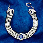 Princess Diana: The People's Princess Created Blue Sapphire And Simulated Pearl Choker Necklace