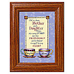 Mother And Daughter Relationship Framed Print: Tea For Two With Mother/Daughter Poem