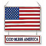 American Flag Wall Decor: USA Flag God Bless America