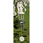 Memorial Angel Wind Chime With Praying Angel & Memorial Poem: Inspirational Sympathy Gift