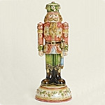 Christmas Nutcracker Cloisonne Porcelain Musical Figurine