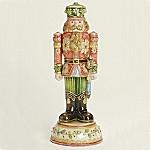 Christmas Nutcracker Cloisonne Porcelain Musical Figurine