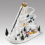 Mr. Christmas Winter Wonderland - Bobsled Ride Illuminated Animated Music Box