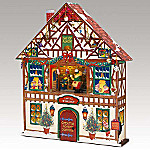 Mr. Christmas Advent House Animated Music Box With Miniature Ornaments