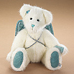 Boyds Plush Teddy Bear Angel Christmas Tree Topper Or Wreath Accessory: Gloria Bearhugs