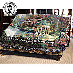 Thomas Kinkade Garden Of Prayer Tapestry Throw: Inspirational Home Decor