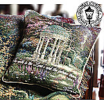 Thomas Kinkade Garden Of Prayer Tapestry Pillow: Inspirational Home Decor