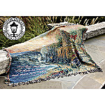 Thomas Kinkade Light Of Peace Tapestry Throw: Inspirational Home Decor