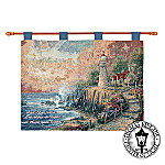 Thomas Kinkade Light Of Peace Wall Hanging Tapestry: Inspirational Home Decor