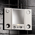 Every Audio Waterproof Radio Shower Mirror: Plays Music from CD's, MP3's, Stereo or TV