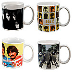 The Beatles Collectible Album Cover Art Tribute Mug Set