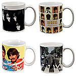 The Beatles Collectible Album Cover Art Tribute Mug Set