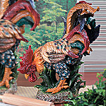 Collectible Provencal Ceramic Rooster Home Decor Sculpture