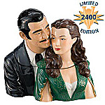 Gone With The Wind Collectible Rhett & Scarlett Ceramic Cookie Jar