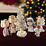 Lenox PEANUTS The Christmas Pageant 7-Piece Nativity Set