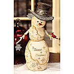 BirchHearts Season Of Happiness Snowman Figurine: Holiday Snowman Gift