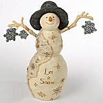 BirchHearts Let It Snow Snowman Figurine