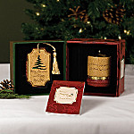 Comfort Candles Comfort And Joy Merry Christmas Candleholder And Ornament Gift Set