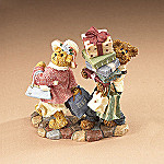 Boyds Ms. Shopsalot With Schlepper...Just One More Stop Collectible Teddy Bear Figurine