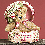 Boyds Mommy Hatbox Collectible Teddy Bear