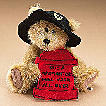 Boyds Mike M Firefighter Collectible Teddy Bear