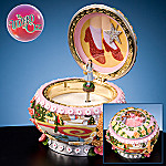 Wizard Of Oz Collectible Glinda And Dorothy Ruby Slippers Hinged Music Box