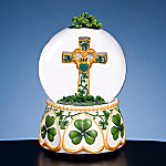 Irish Cross Collectible Water Globe
