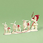 Department 56 Snowbabies Collectible On Cupid, On Donner, On Blitzen Figurine
