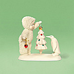 Department 56 Snowbabies Collectible Give The Tree A Whirl Spinner Figurine