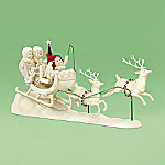 Department 56 Snowbabies Collectible Up, Up And Away Santa's Sleigh Figurine