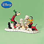 Department 56 Snowbabies Disney Mickey Mouse Figurine: Mickey's Marshmallow Roast