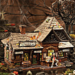 Department 56 Snow Village Halloween Rickety Railroad Station Collectible Village Building