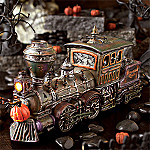 Department 56 Snow Village Halloween Haunted Rails Engine & Coal Car Collectible Village Figurine