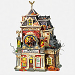 Department 56 Snow Village Halloween Grimsly's House Of Oddities Collectible Village Building