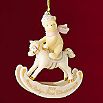 Lenox 2008 Annual Disney Winnie The Pooh Baby's First Christmas Ornament