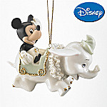 Lenox Mickey Soars With Dumbo Christmas Ornament