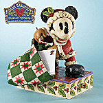 Jim Shore Disney Traditions Santa Mickey Holiday Card Holder Figurine