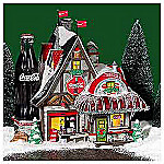 Department 56 North Pole Series Coca-Cola Fizz Factory House
