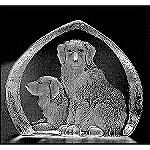 Mats Jonasson Golden Retriever Crystal Figurine
