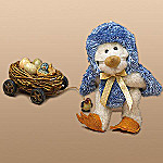 Boyds Bear B. Jay Tweeter Plush Collectible Teddy Bear and Bird Nest Tugalong Set