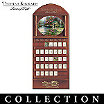 Thomas Kinkade Daily Gifts From God's Garden Collector Plate Calendar Collection