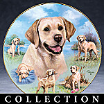 Linda Picken For The Love Of Labs Porcelain Collector Plate Collection