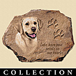 Linda Picken Yellow Labs Leave Paw Prints On Our Hearts Collector Plate Collection