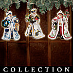 Santa's Feathered Friends Christmas Ornament Collection