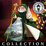 Thomas Kinkade Visions Of Ireland Santa Figurine Collection